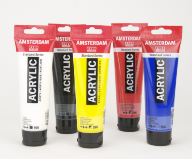 Amsterdam All Acrylics 5 basic colours x 120ml