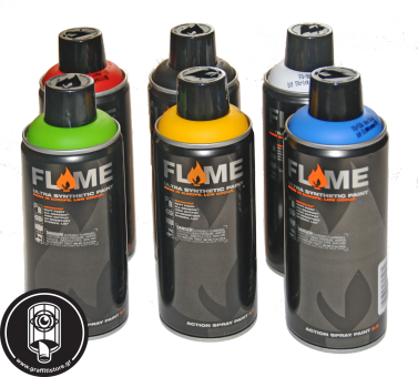 Basic colours Flame High Pressure 6 cans starter promo