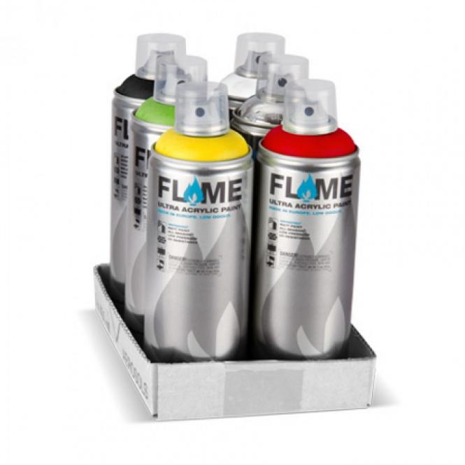 Basic colours Flame 6 cans starter promo
