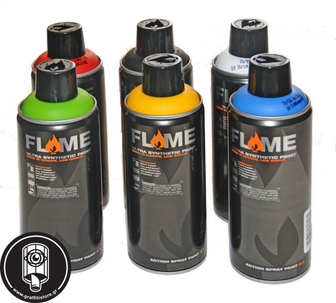 6 flame black + 6 silver flame high pressure