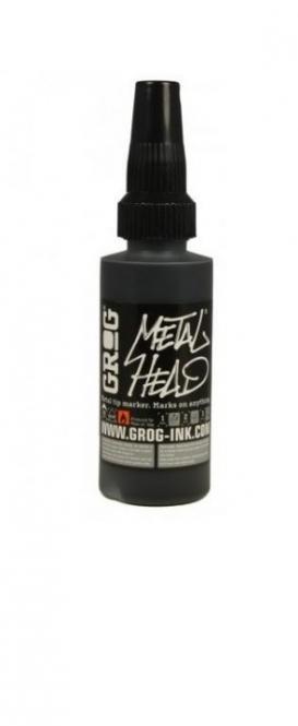 Grog Metal Head 60ml Black squeezable marker
